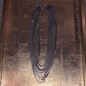 Charming Charlie silver layered necklace